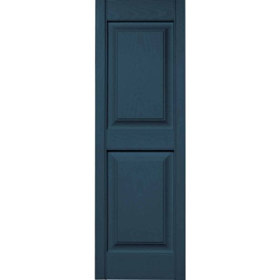 Builders Edge 12 in. x 55 in. Classic Blue Panel Shutter, (2-Pack)