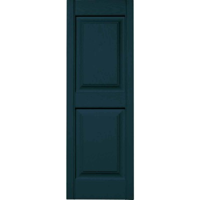 Builders Edge 14.75 in. x 63 in. Midnight Blue Panel Shutter, (2-Pack)