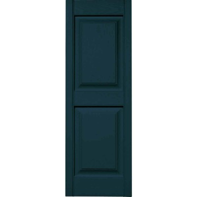 Builders Edge 14.75 in. x 71 in. Midnight Blue Panel Shutter, (2-Pack)