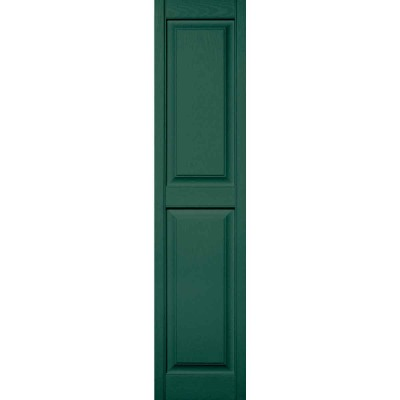 Builders Edge 14.5 in. x 72 in. Forest Green Panel Shutter, (2-Pack)
