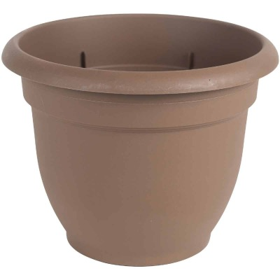 Bloem Ariana 17 In. H. x 20 In. Dia. Plastic Self Watering Chocolate Planter