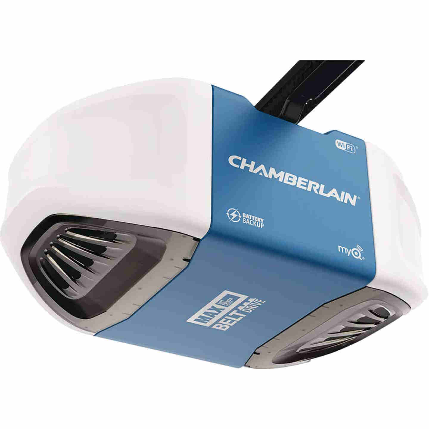 Chamberlain 1-1/4 HP Smartphone-Controlled Ultra-Quiet & Strong Belt Drive Garage Door Opener with Built-In WiFi, Battery Backup and MAX Lifting Power Image 3
