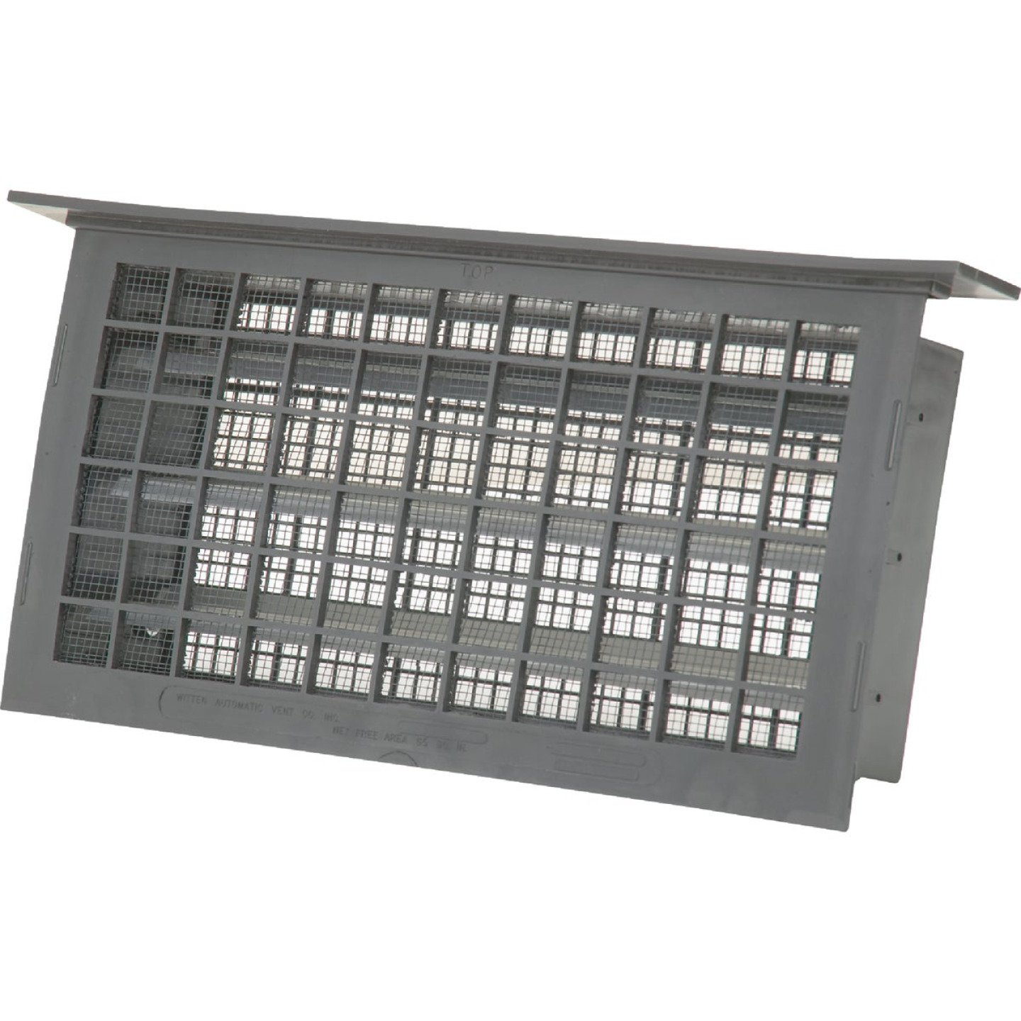 Witten 8 In. x 16 In. Gray Automatic Foundation Ventilator with Lintel Image 1