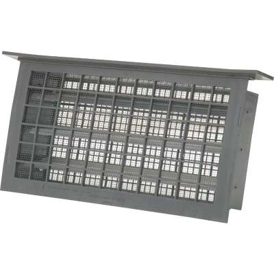 Witten 8 In. x 16 In. Gray Automatic Foundation Ventilator with Lintel