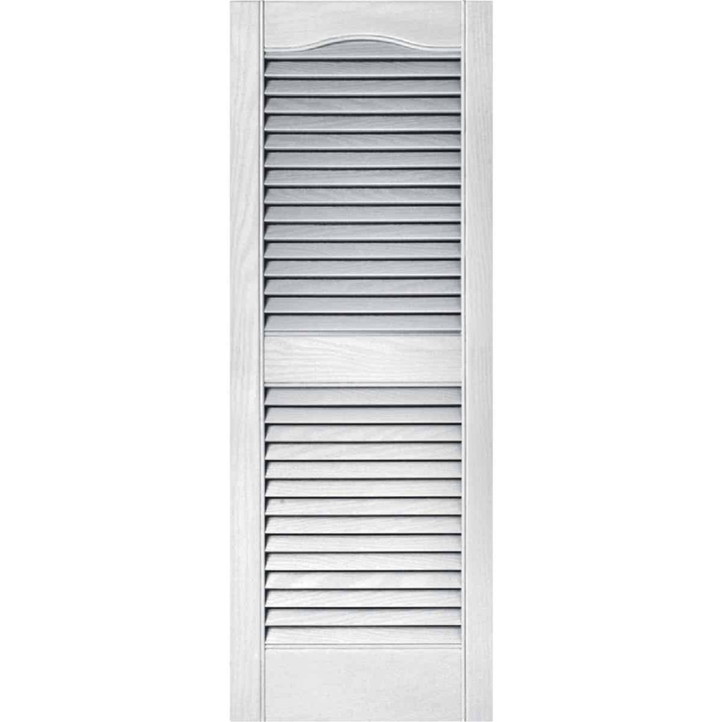 Builders Edge 15 In. x 39 In. Vinyl Louvered Shutter, (2-Pack) Image 1