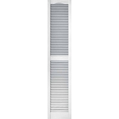 Builders Edge 15 In. x 72 In. Vinyl Louvered Shutter, (2-Pack)