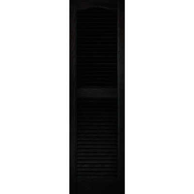Builders Edge 15 In. x 52 In. Vinyl Louvered Shutter, (2-Pack)