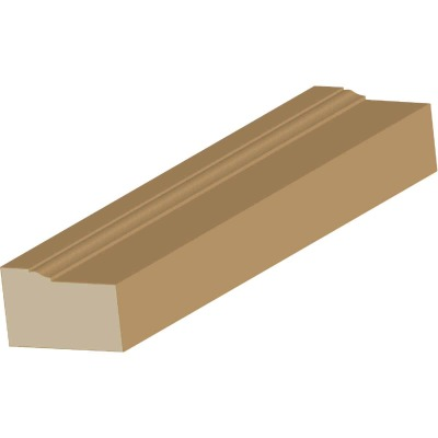 Cedar Creek WM180 2 In. x 8 Ft. Pine Wood Brick Molding