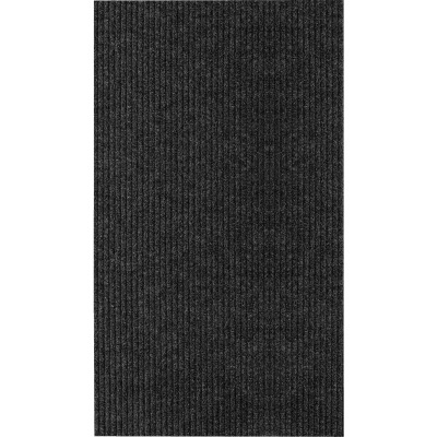 Multy Home Concord 4 Ft. x 6 Ft. Charcoal Carpet Utility Floor Mat, Indoor/Outdoor