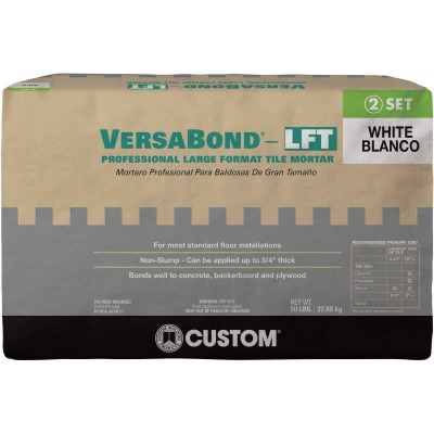 Custom Building Products VersaBond 50 Lb. White Large Format Tile Mortar