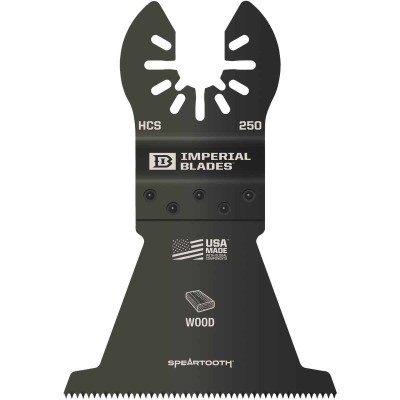 Imperial Blades ONE FIT 2-1/2 In. 12 TPI Speartooth Wood Oscillating Blade