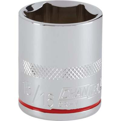 Channellock 1/2 In. Drive 15/16 In. 6-Point Shallow Standard Socket