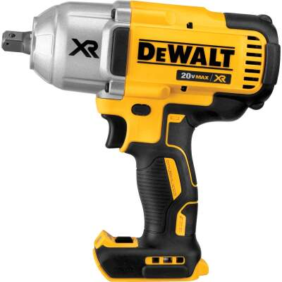 DeWalt 20 Volt MAX XR Lithium-Ion Brushless 1/2 In. Cordless Impact Wrench w/Detent Pin Anvil (Bare Tool)