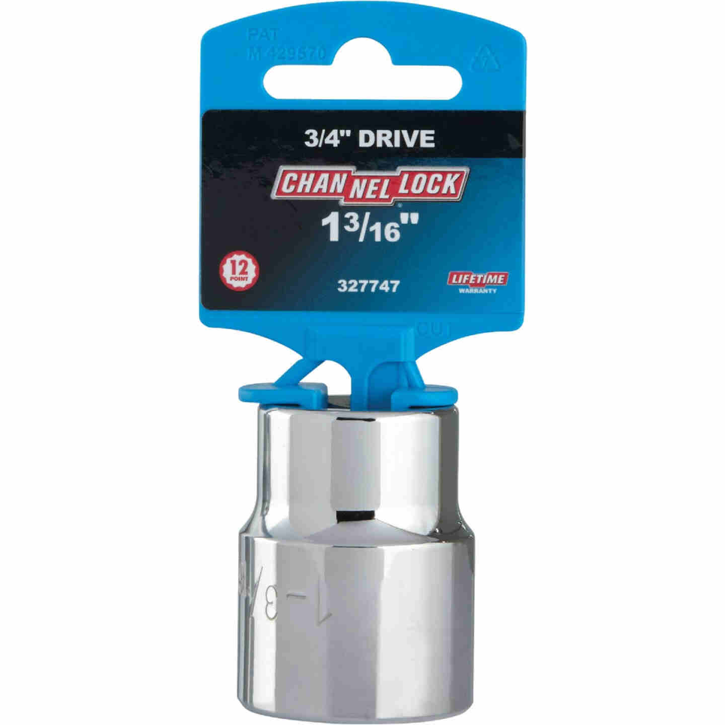 Channellock 3/4 In. Drive 1-3/16 In. 12-Point Shallow Standard Socket Image 2