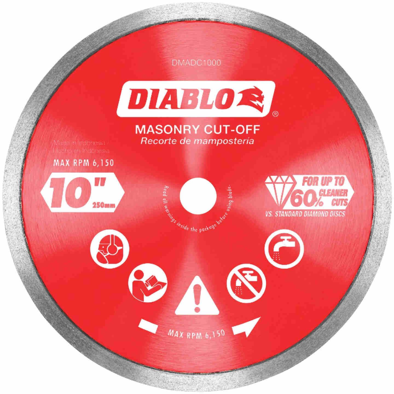 Diablo 10 In. Diamond Continuous Rim Dry/Wet Cut Diamond Blade Image 1