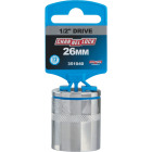 Channellock 1/2 In. Drive 26 mm 12-Point Shallow Metric Socket Image 2