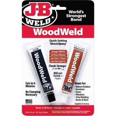J-B Weld (2) 0.76 Oz. WoodWeld Epoxy
