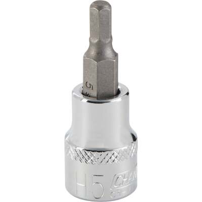 Channellock 3/8 In. Drive 5 mm 6-Point Metric Hex Bit Socket