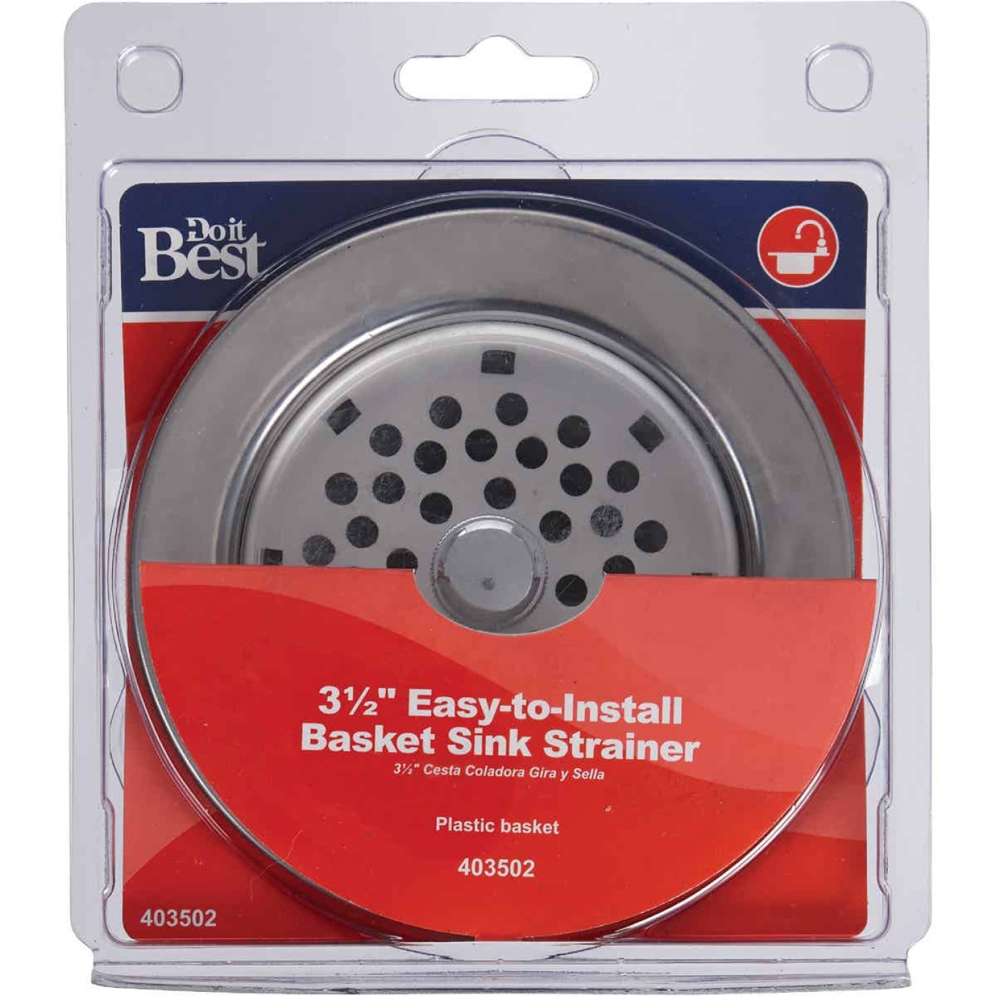 Do it 3-1/2 In. ABS & Stainless Steel Basket Strainer Assembly Image 2