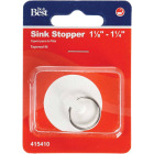 Do it Duo-Fit 1-1/8 In. to 1-1/4 In. White Sink Rubber Drain Stopper Image 2
