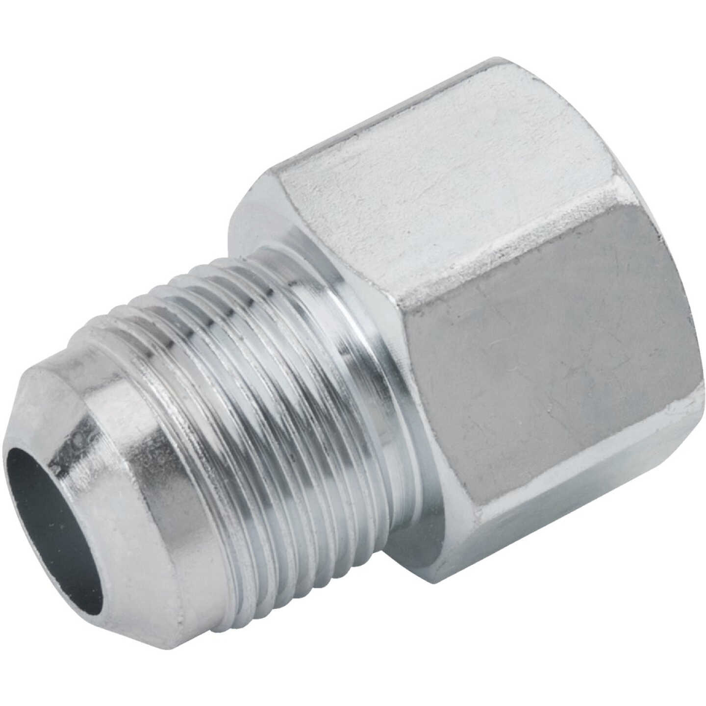 Dormont 5/8 In. OD Male Flare x 3/4 In. FIP Zinc-Plated Carbon Steel Adapter Gas Fitting, Bulk Image 1