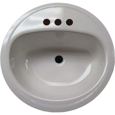 Briggs Anderson Oval Drop-In Bathroom Sink, White
