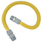Dormont 5/8 In. OD x 36 In. Coated Stainless Steel Gas Connector, 1/2 In. MIP (Tapped 3/8 In. FIP) x 1/2 In. MIP (Tapped 3/8 In. FIP) Image 1