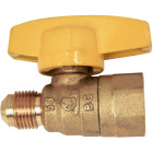 Dormont 3/8 In. OD Male Flare x 1/2 In. FIP Forged Brass Gas Shutoff Valve Image 1