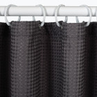Zenith Zenna Home 70 In. x 72 In. Steel Gray Spa Waffle Weave Shower Curtain Image 2