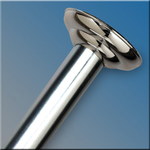 Zenith Straight 41 In. To 72 In. Adjustable Fixed Shower Rod in Chrome