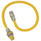 Dormont 3/8 In. OD x 36 In. Coated Stainless Steel Gas Connector, 1/2 In. MIP (Tapped 3/8 In. FIP) x 1/2 In. MIP SmartSense Image 1