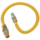 Dormont 1/2 In. OD x 18 In. Coated Stainless Steel Gas Connector, 1/2 In. MIP (Tapped 3/8 In. FIP) x 1/2 In. MIP SmartSense Image 1