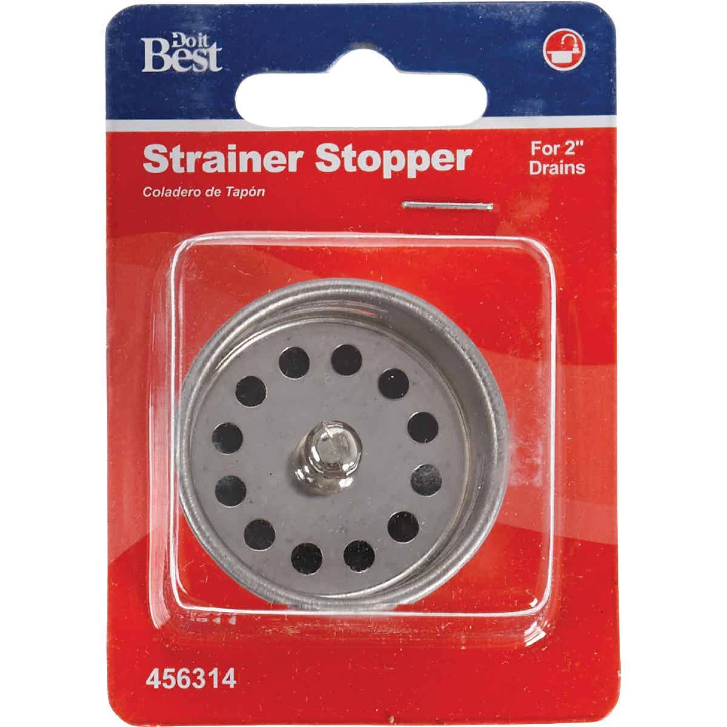 Do it 2 In. Chrome Jr. Duo Basket Strainer Stopper Image 2