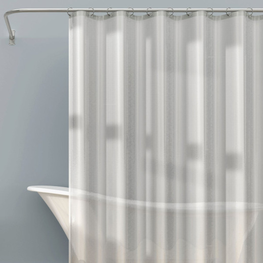 Zenna Home 70 In. x 71 In. Frosty Heavyweight PEVA Shower Curtain Liner