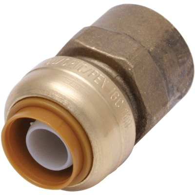 SharkBite 1/2 In. x 3/4 In. FNPT Reducing Brass Push-to-Connect Female Adapter