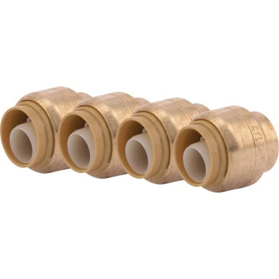 SharkBite 1/2 In. Push-to-Connect Brass End Push Cap (4-Pack)
