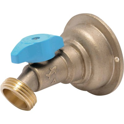 Sharkbite 3/4 In. x 3/4 In. MHT Quarter Turn Brass No Kink 45 Degree Hose Bibb