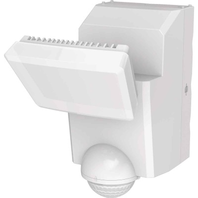 IQ America White Motion Sensing LED Solar Powered Security Light Fixture, 700-Lumen