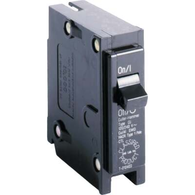Eaton 15A Single-Pole Standard Trip Universal Replacement Circuit Breaker