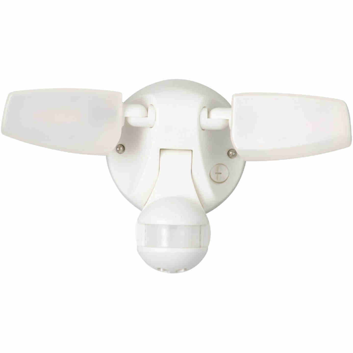 Halo Selectable Color Temperature White Motion Sensing LED Twin Head Floodlight Fixture Image 1