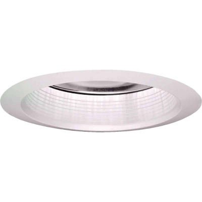 Halo Air-Tite 6 In. White Baffle w/Clear Reflector Recessed Fixture Trim