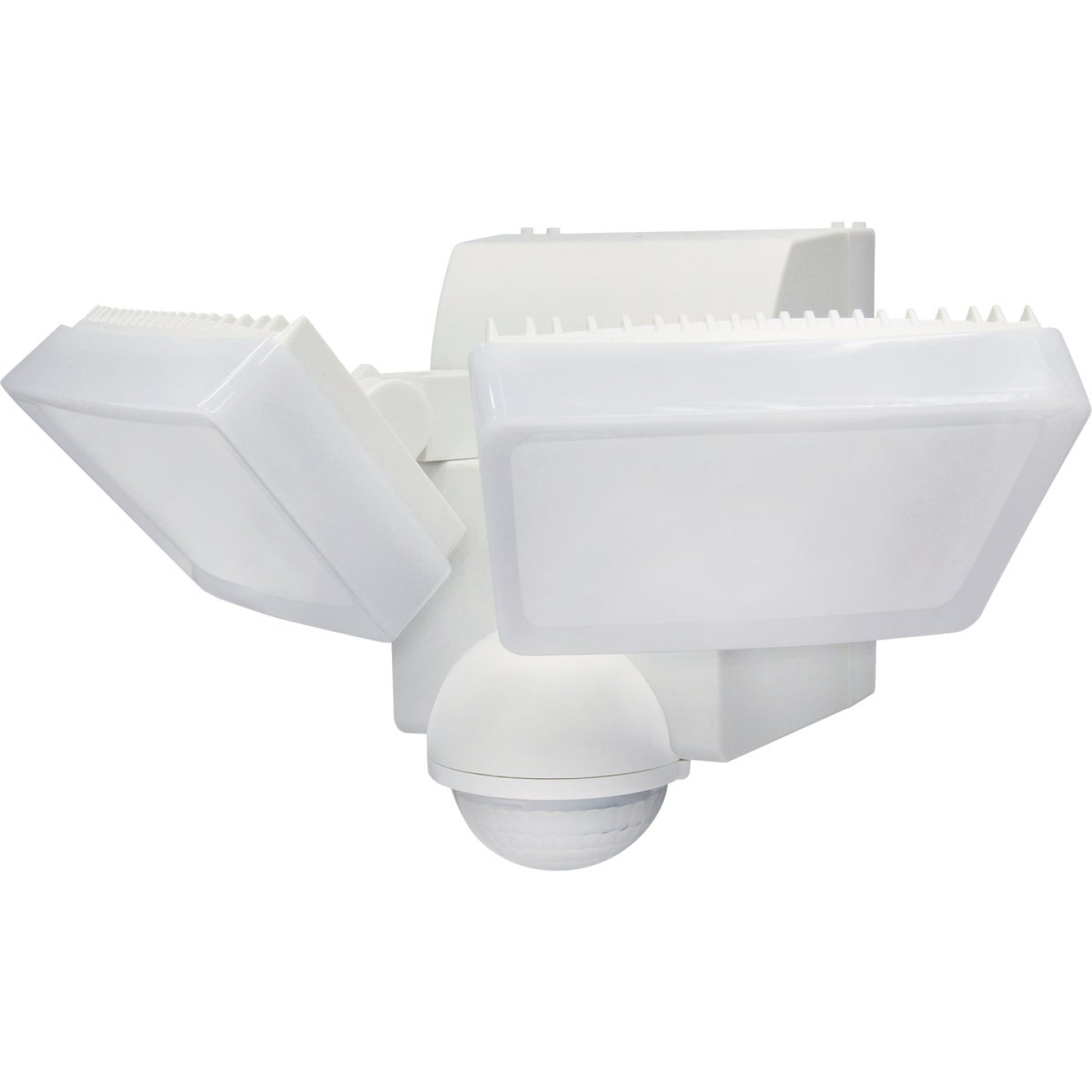 IQ America White 800 Lm. LED Motion Sensing Battery Operated 2-Head Security Light Fixture Image 1