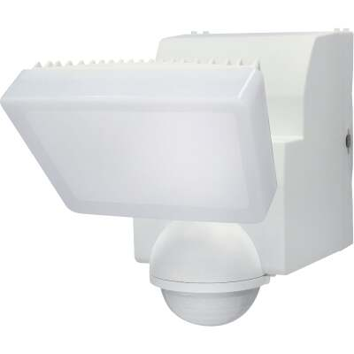 IQ America White 500 Lm. LED Motion Sensing Battery Operated 1-Head Security Light Fixture