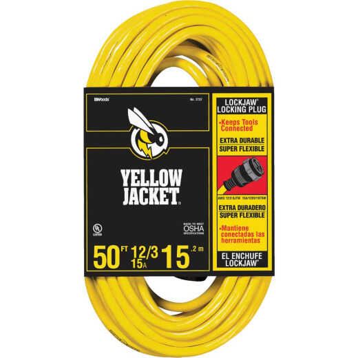 Yellow Jacket Lockjaw 50 Ft. 12/3 Extension Cord