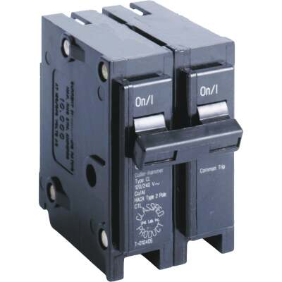 Eaton 40A Double-Pole Standard Trip Universal Replacement Circuit Breaker