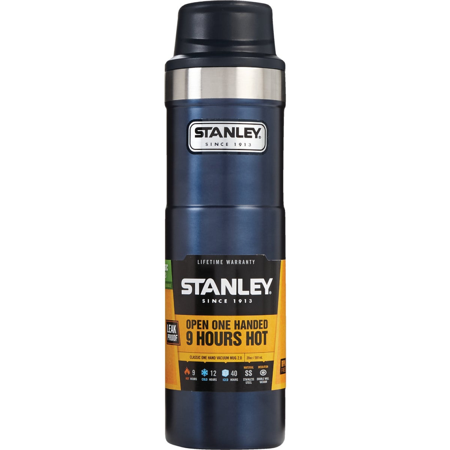 Stanley 20 Oz. Nightfall Blue Trigger Action Insulated Tumbler Image 1
