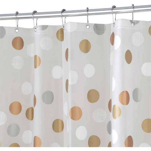 iDesign 72 In. x 72 In. Gilly Dot PEVA Shower Curtain