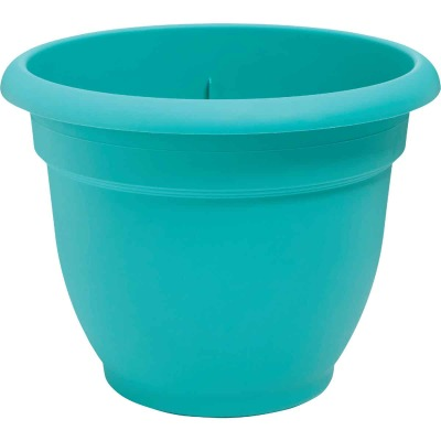 Bloem Ariana 8.8 In. H x 8 In. Dia. Plastic Self Watering Bermuda Teal Planter