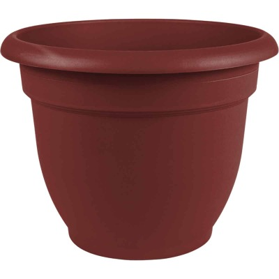 Bloem Ariana 8.8 In. H x 8 In. Dia. Plastic Self Watering Burnt Red Planter