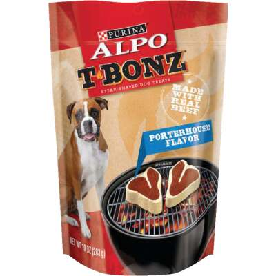 Purina Alpo T-Bonz Porterhouse Flavor Chewy Dog Treat, 10 Oz.